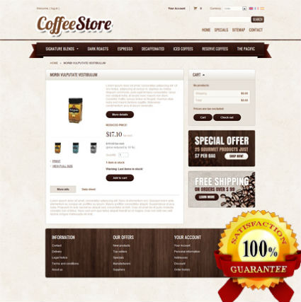 Web Design Service Belgium - Coffee Store